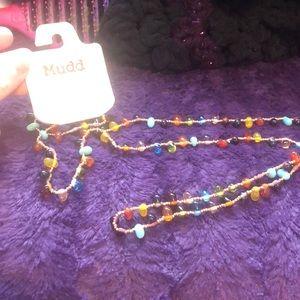 Mudd long bead necklace